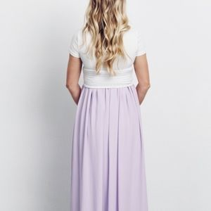 Flax - Lavender Maxi Skirt with Pockets